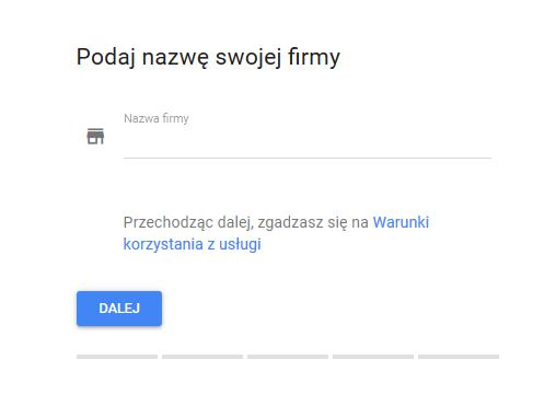 Google Moja Firma nazwa