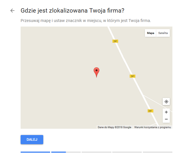 Google Moja Firma mapka