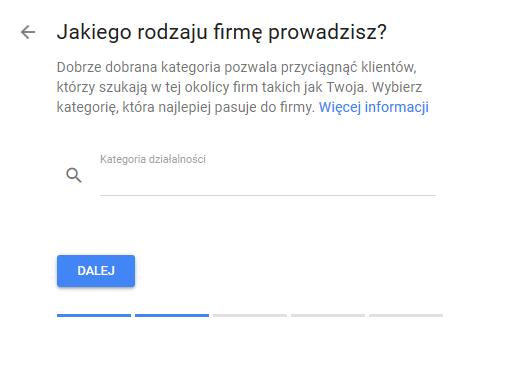 Google Moja Firma kategoria