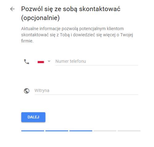 Google Moja Firma telefon