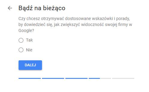 Google Moja Firma zgoda