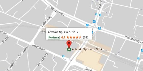 Artefakt Google Maps