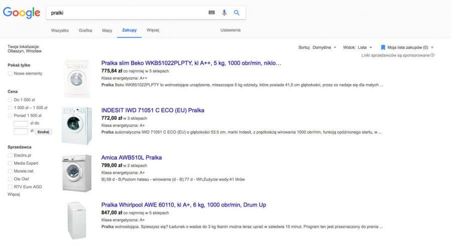 zakladka zakupy google