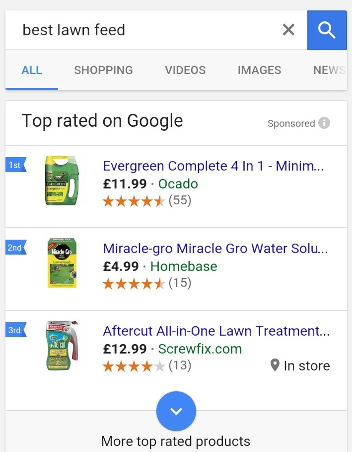 Top rated ads