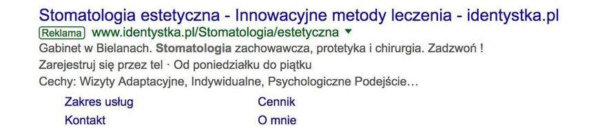 reklama w wynikach google