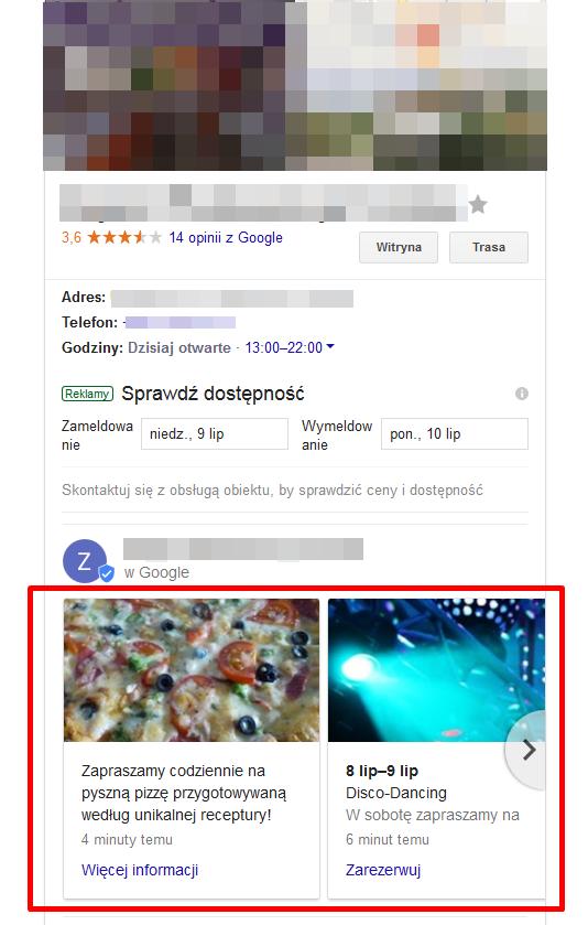 Wpisy Google Maps