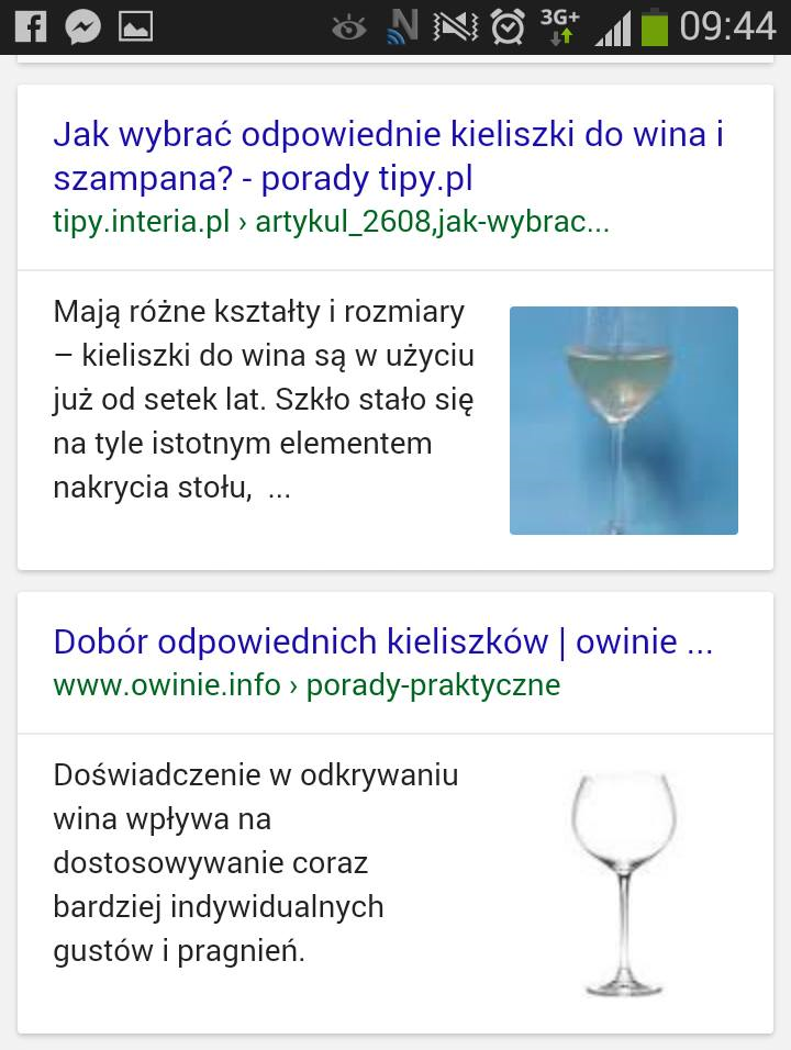 Grafika w mobile SERP