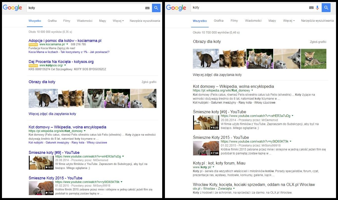 Czarne linki w wynikach wyszukiwania