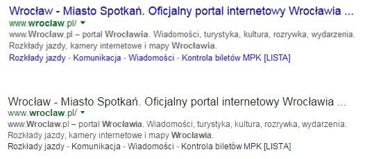 Czarne tytuły w wynikach wyszukiwania