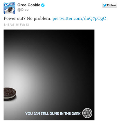 Real Time Marketing - Oreo