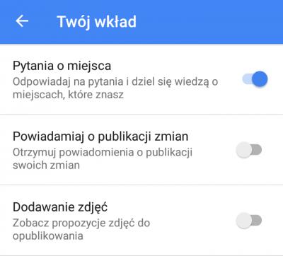 Powiadomienia Google Moja Firma