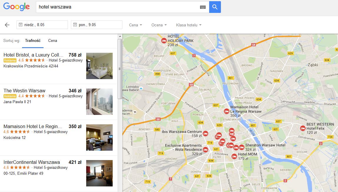 Reklamy w Google Maps