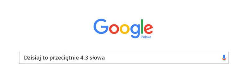 dlugość zapytania w google