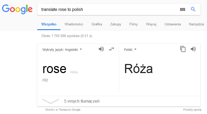 operator translate Google