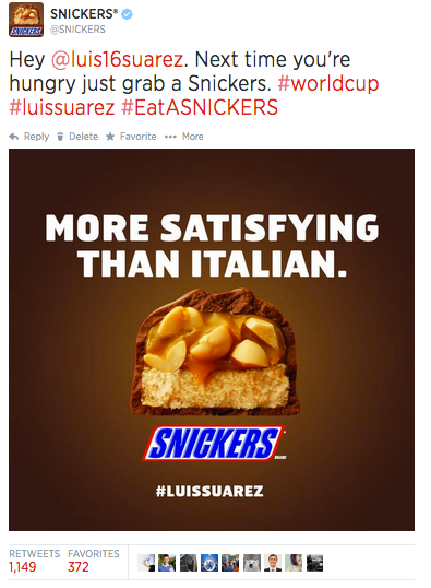 Twitter - Snickers