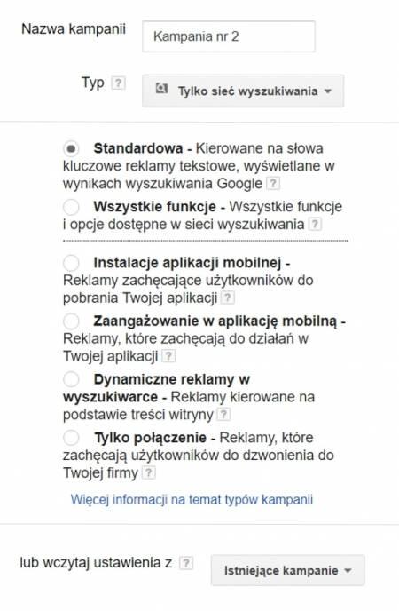 a250675e18ee Wyszukiwarka typy kampanii. Dynamiczne reklamy ...