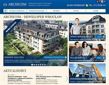 Archicom strona internetowa