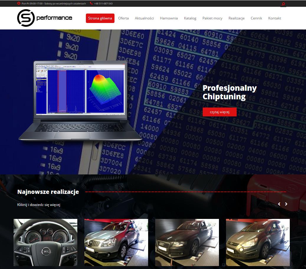 S-Performance wygląd strony