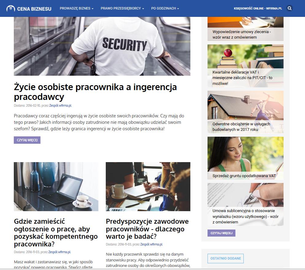Cenabiznesu.pl witryna