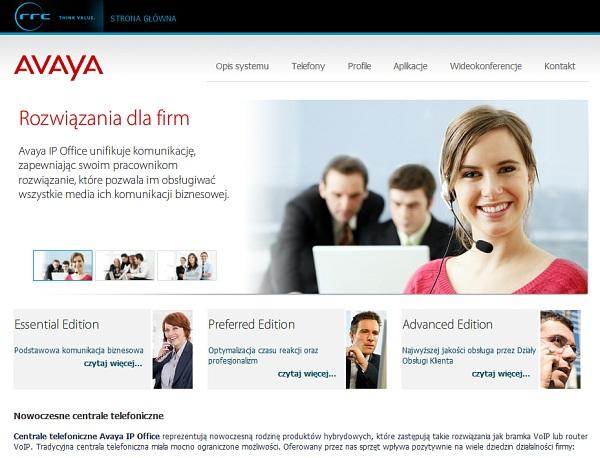 Projekt serwisu dla Avaya IP Office