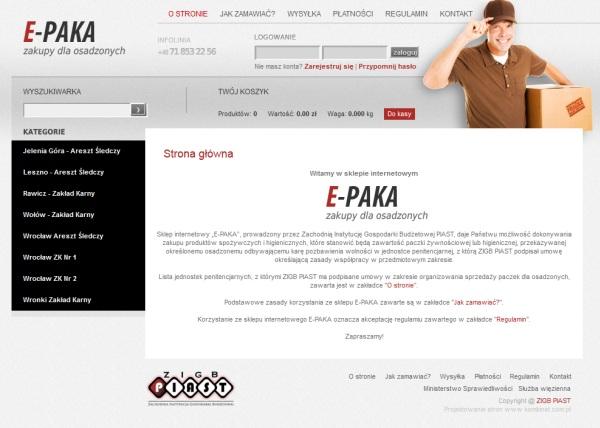 E-paka - sklep dla więzniów