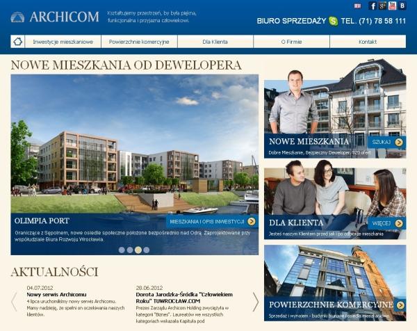 Nowa strona dla firmy Archicom