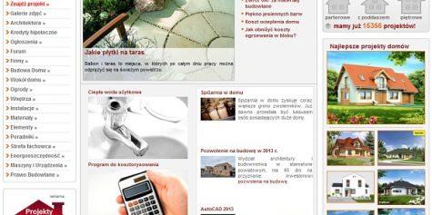 Projekt i wykonanie portalu dla budujących Projektoskop.pl