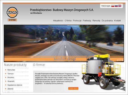 Redesign strony internetowej firmy Madro
