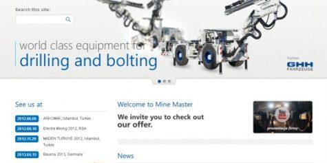 Przebudowa witryny producenta maszyn górniczych Mine Master