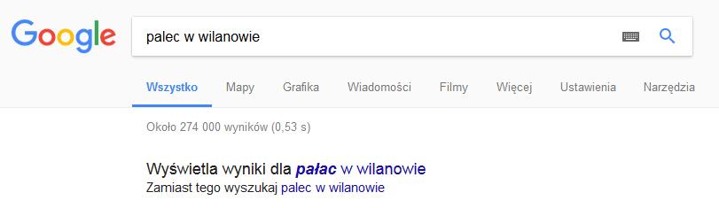 Podpowiedzi wyszukiwarki Google