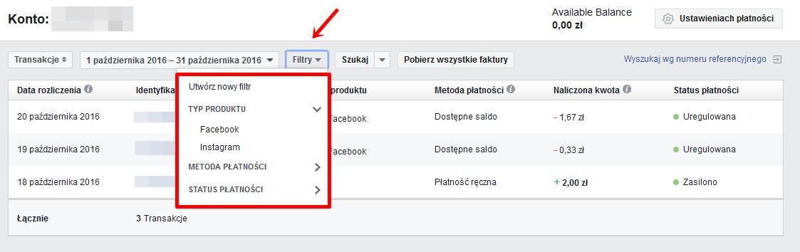 filtry na Facebooku