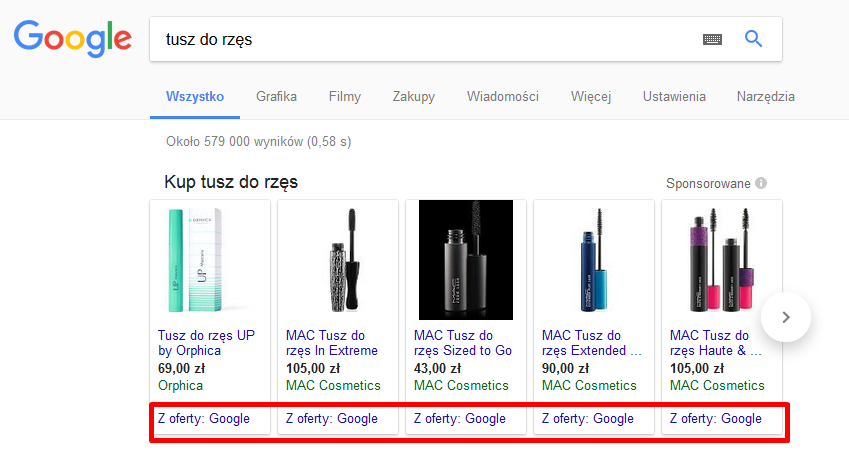 Zakupy Google Shopping
