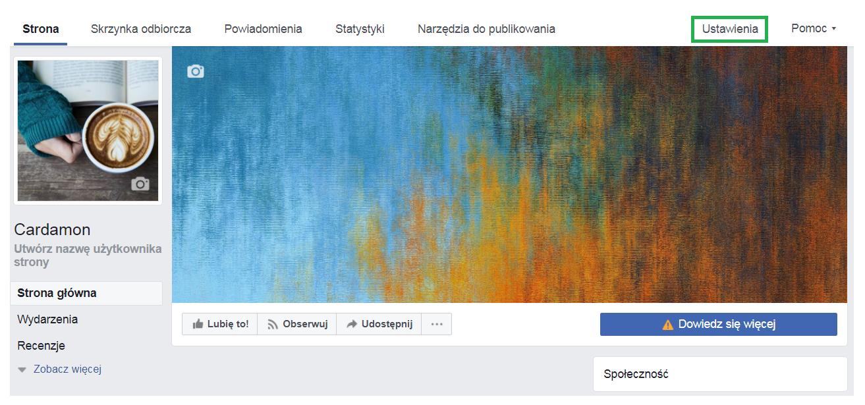 zakładanie fanpage na FB