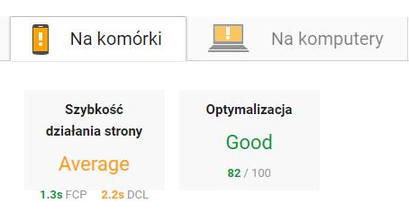 Aktualizacja Page Speed