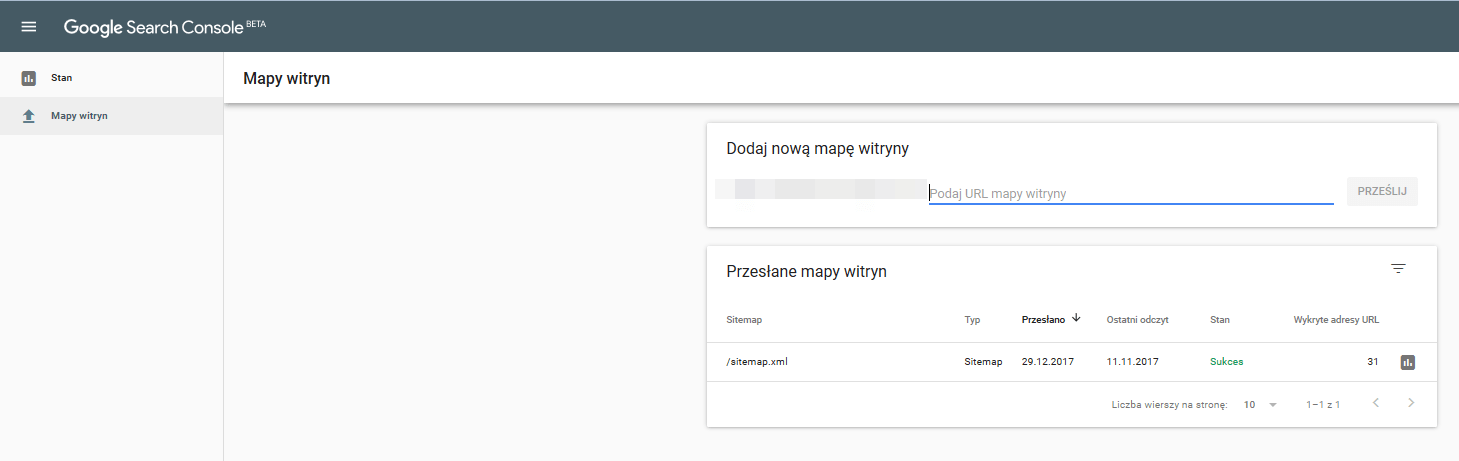 nowe raporty search console