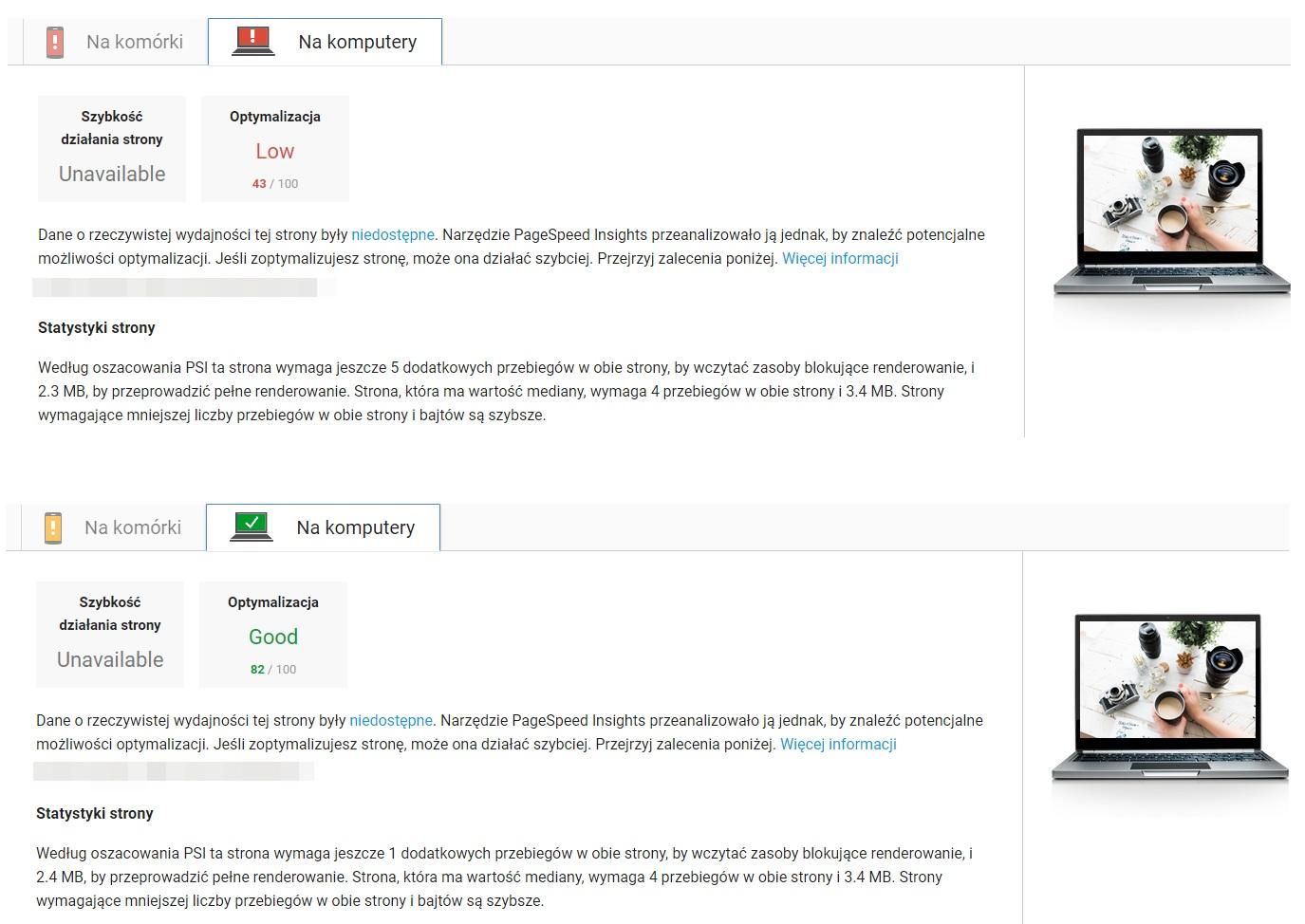 optymalizacja pagespeed