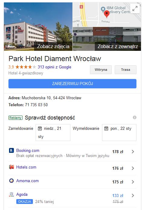 Wizytówka Google Park Hotel