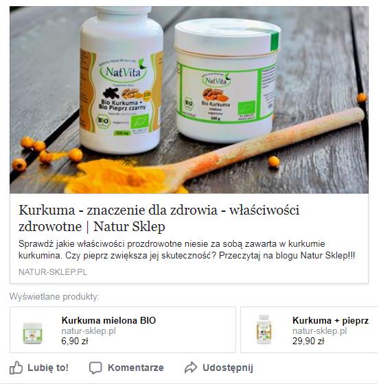 Natur Sklep na Facebooku
