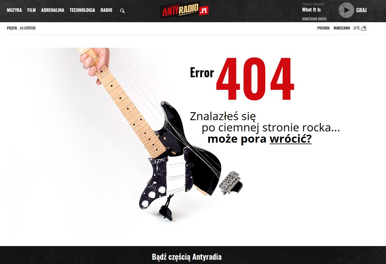 antyradio błąd 404