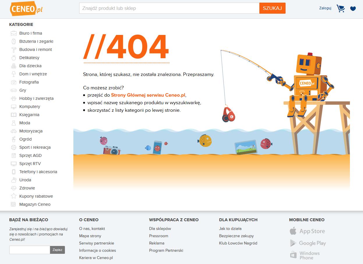 Ceneo błąd 404