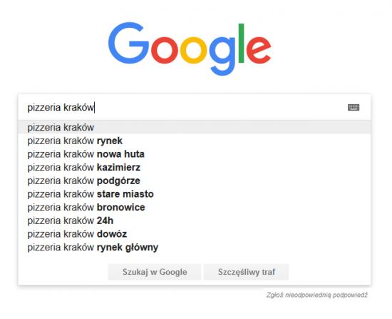 Google frazy lokalne