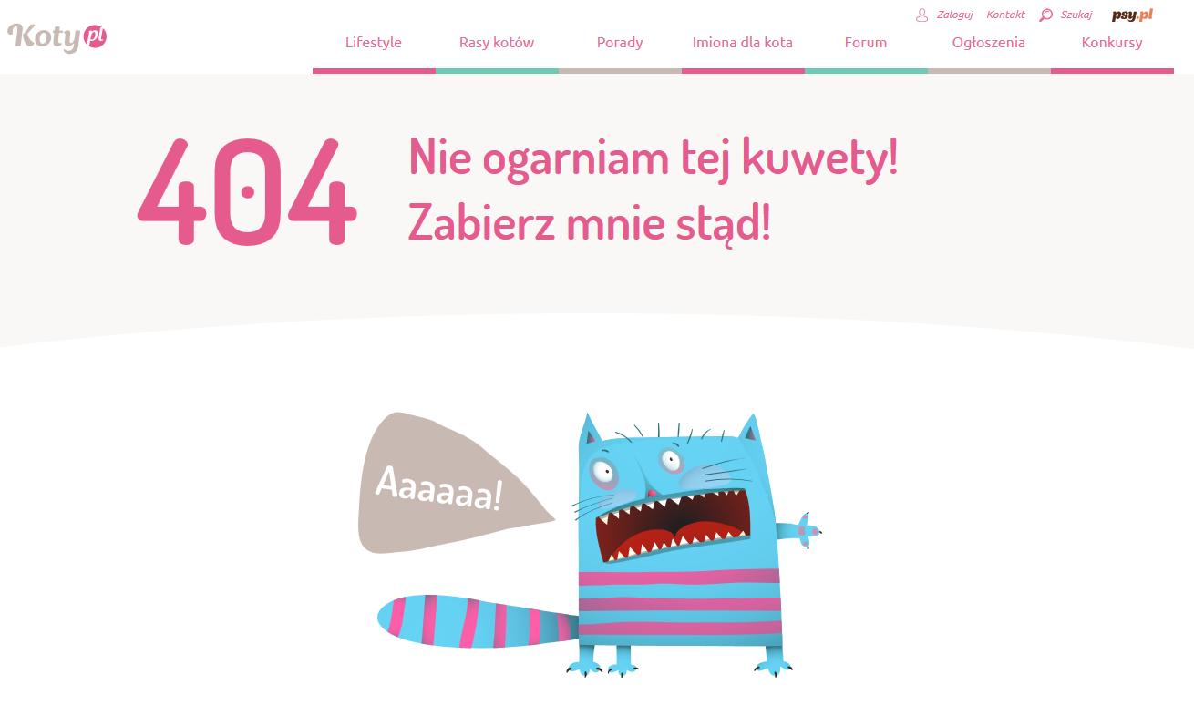 Koty błąd 404