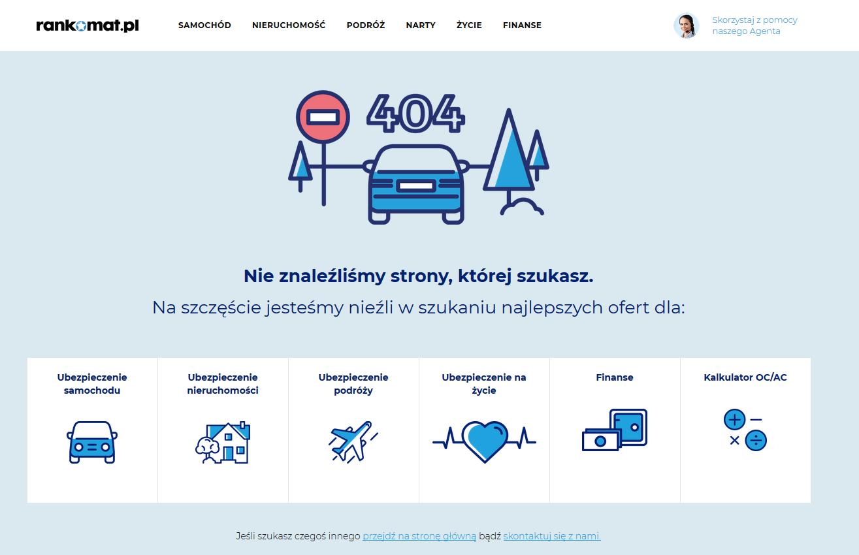rankomat błąd 404