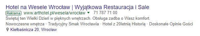 Google AdWords rozszerzenie lokalizacji