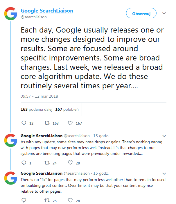 core algorithm update 2018