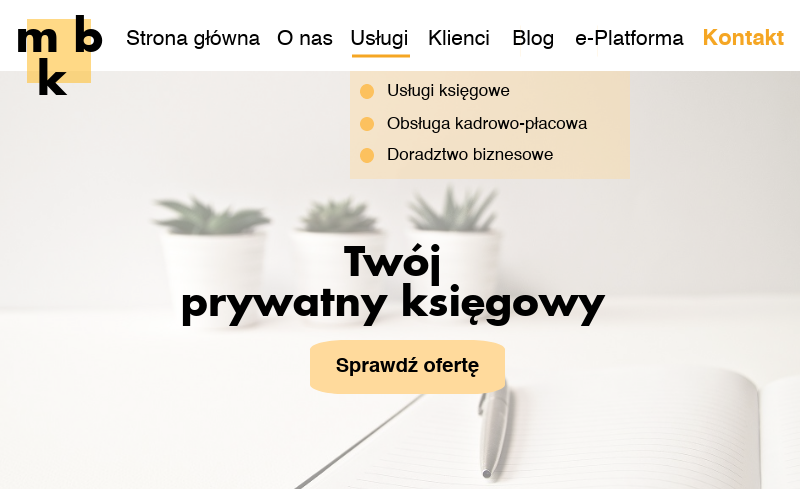 strona internetowa biuro rachunkowe