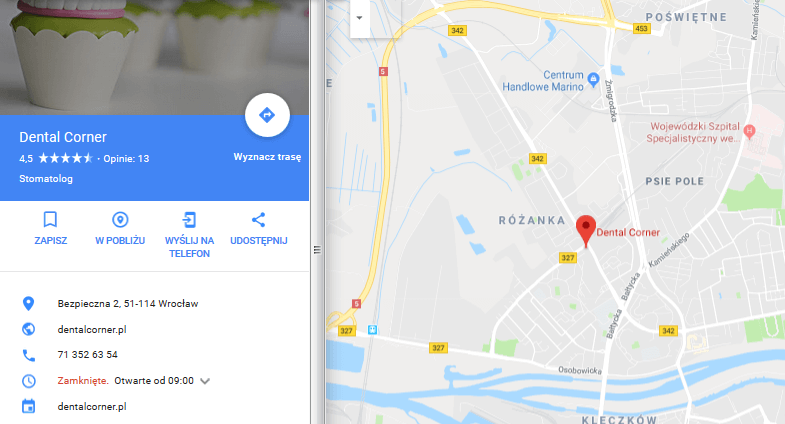 google maps dentysta