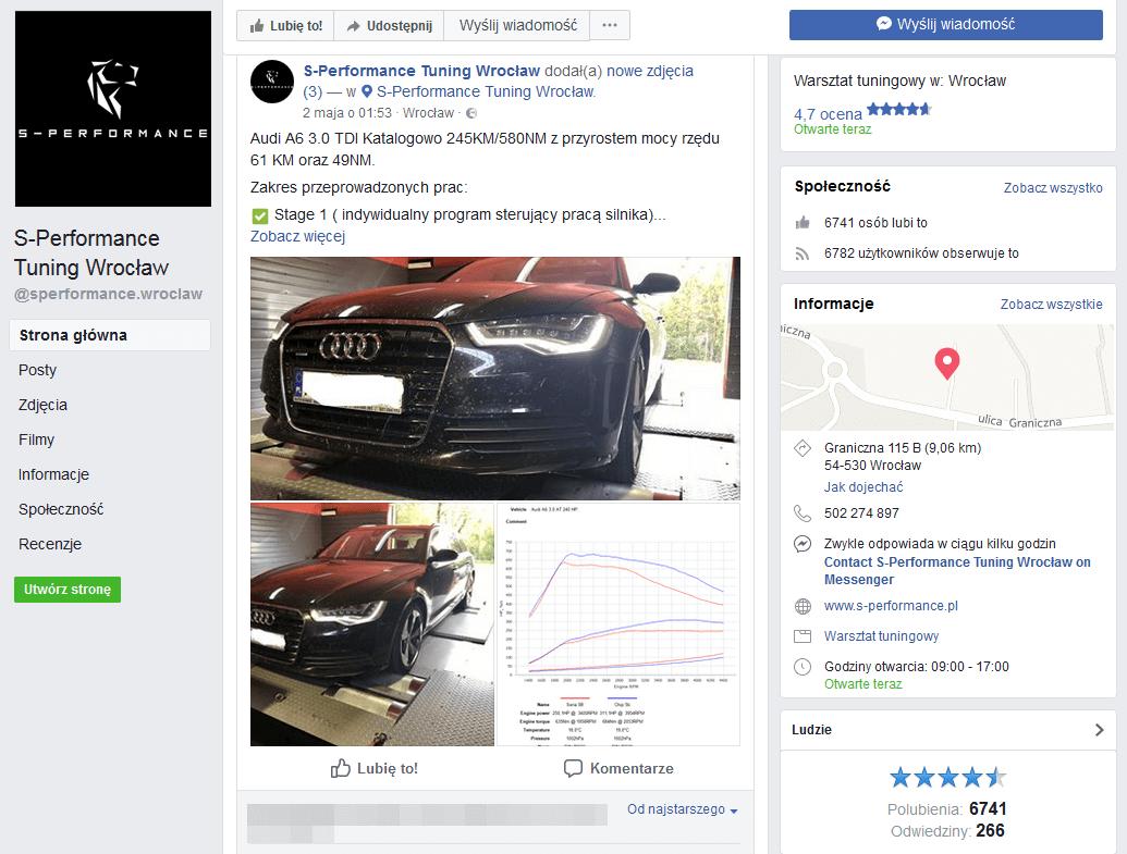 s performance facebook