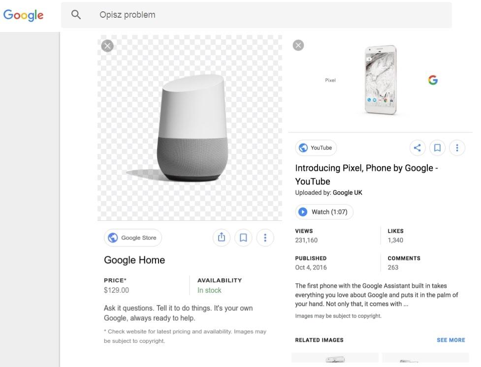 google mikrodane grafika