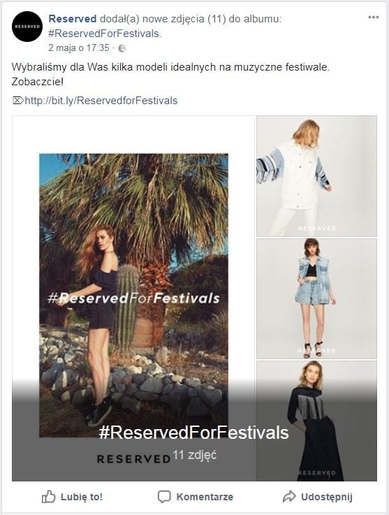reserved kampania na facebooku